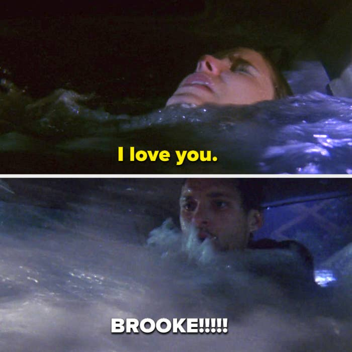 """Brooke says """"I love you"""" before the water goes over her head, and Julian screams """"Brooke!!"""""""