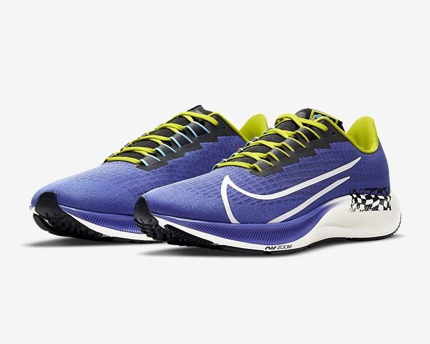 a pair of nike air zoom pegasus 37 running shoes