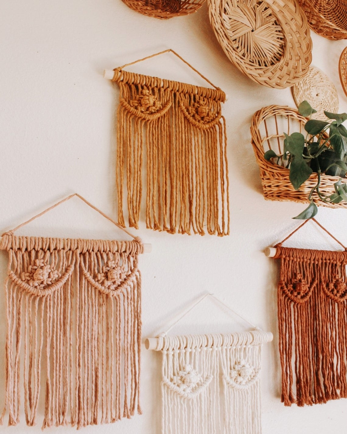 Classic macrame hanging with breast and nipple design