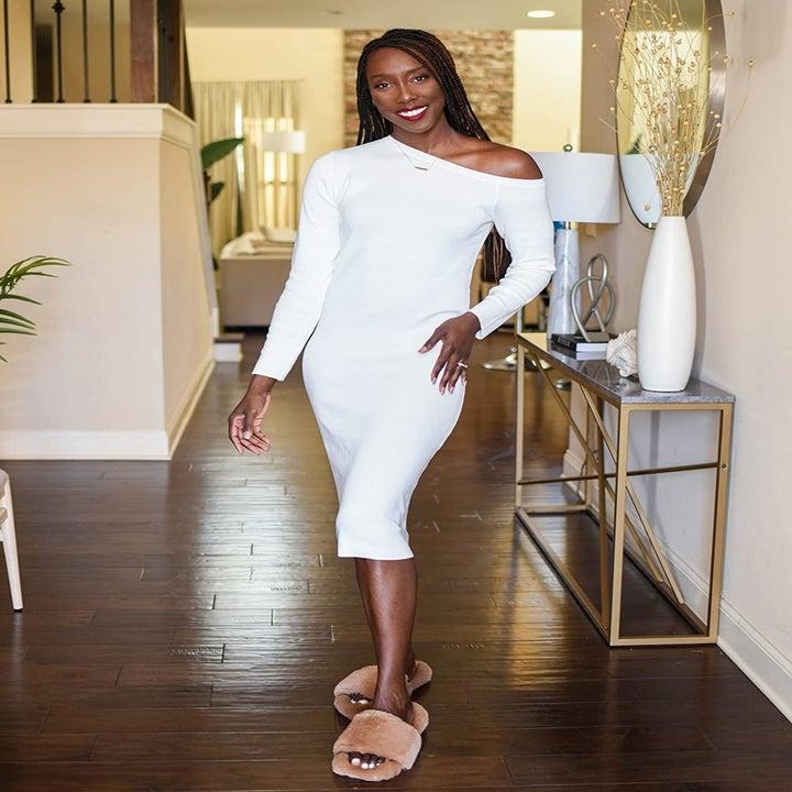 the white midi dress