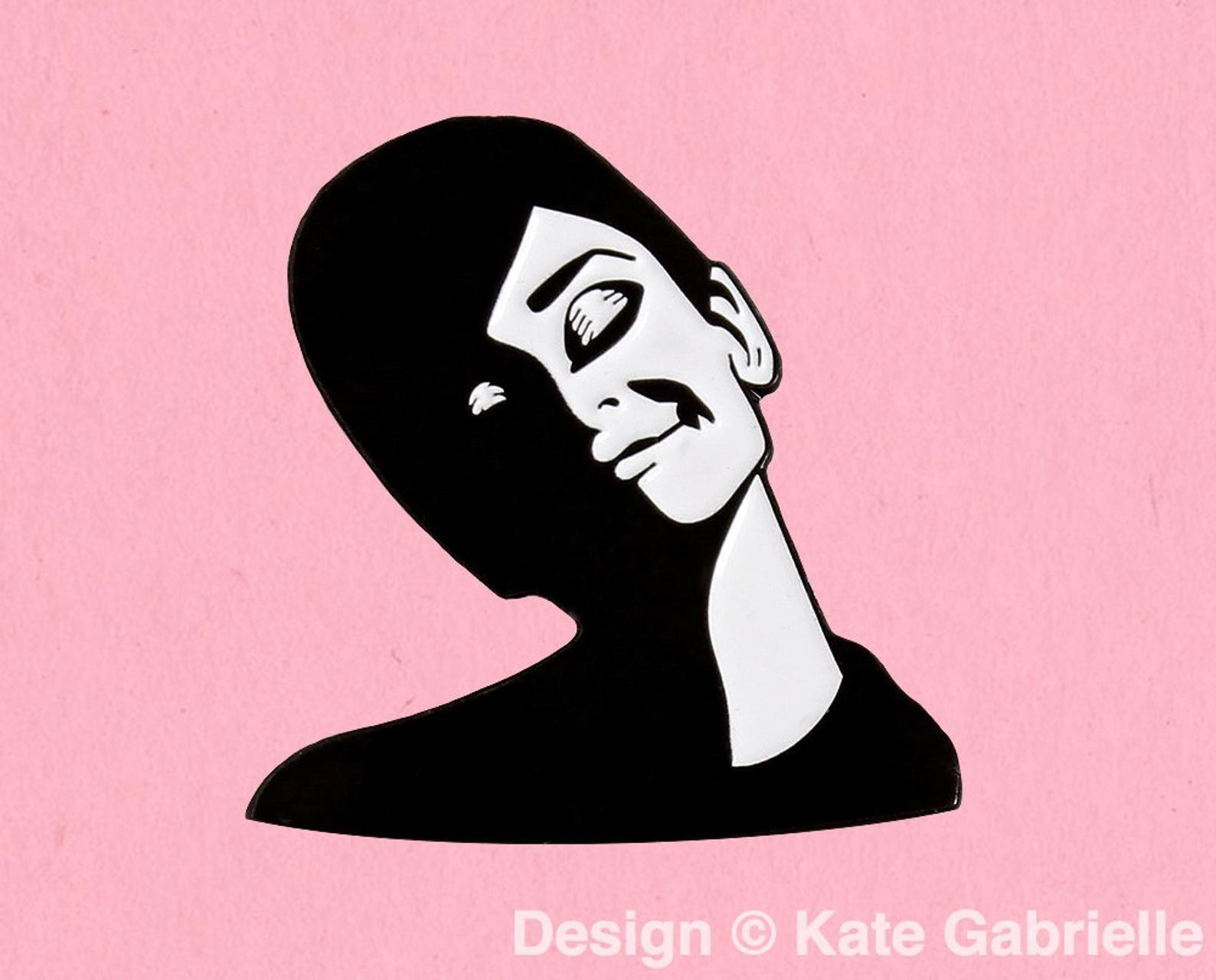 Audrey Hepburn enamel pin
