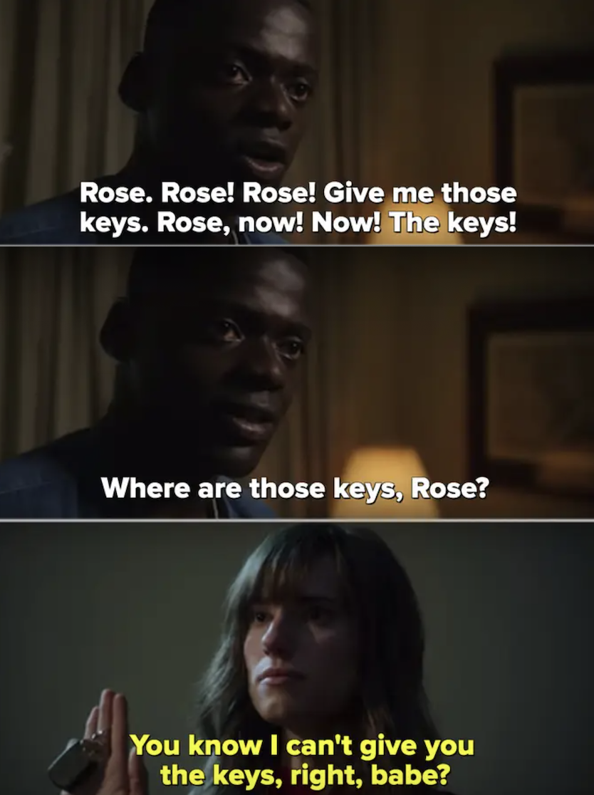 "Chris yelling for the car keys in ""Get Out"""