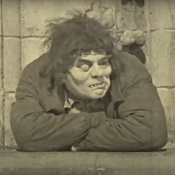 Lon Chaney as the Hunchback in the 1923 movie