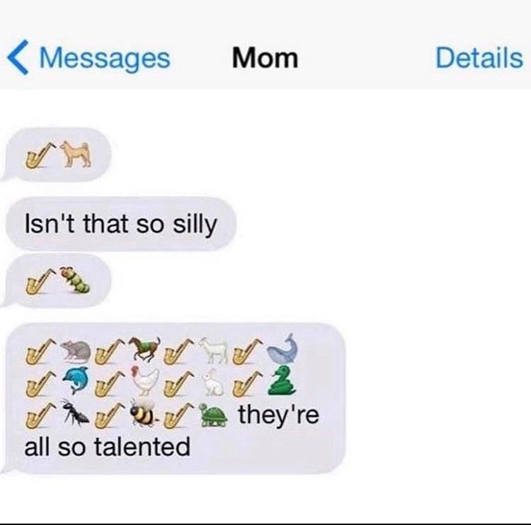 emojis playing saxophones