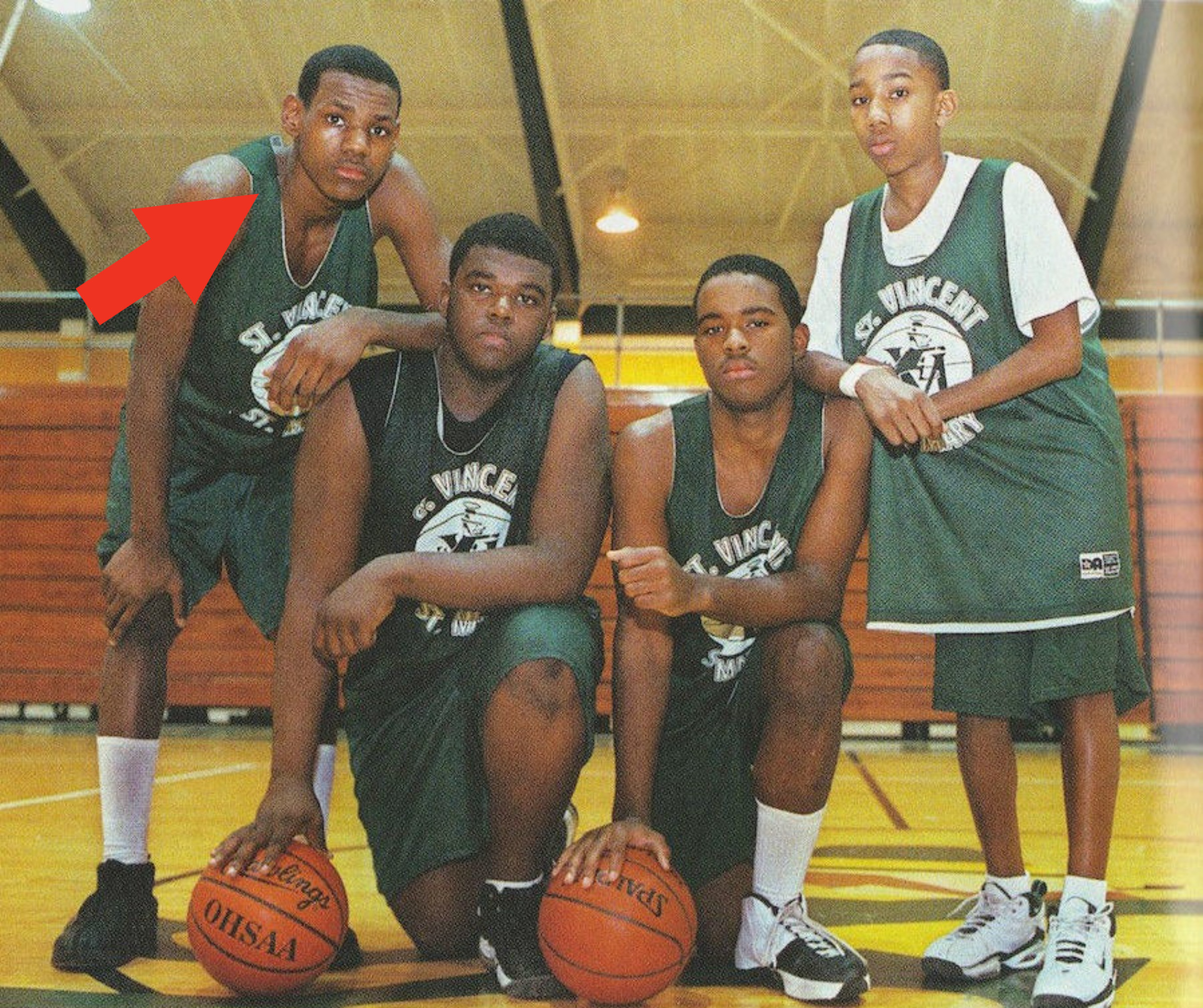 the original Fab Four during freshman season at St. Vincent in 1999-2000.