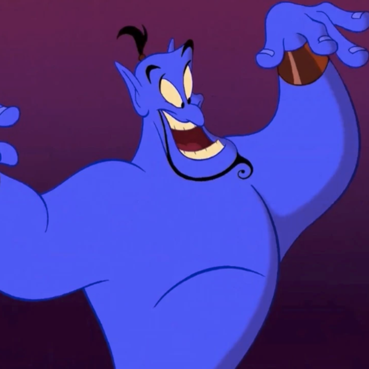 """The Genie standing tall in """"Aladdin"""""""