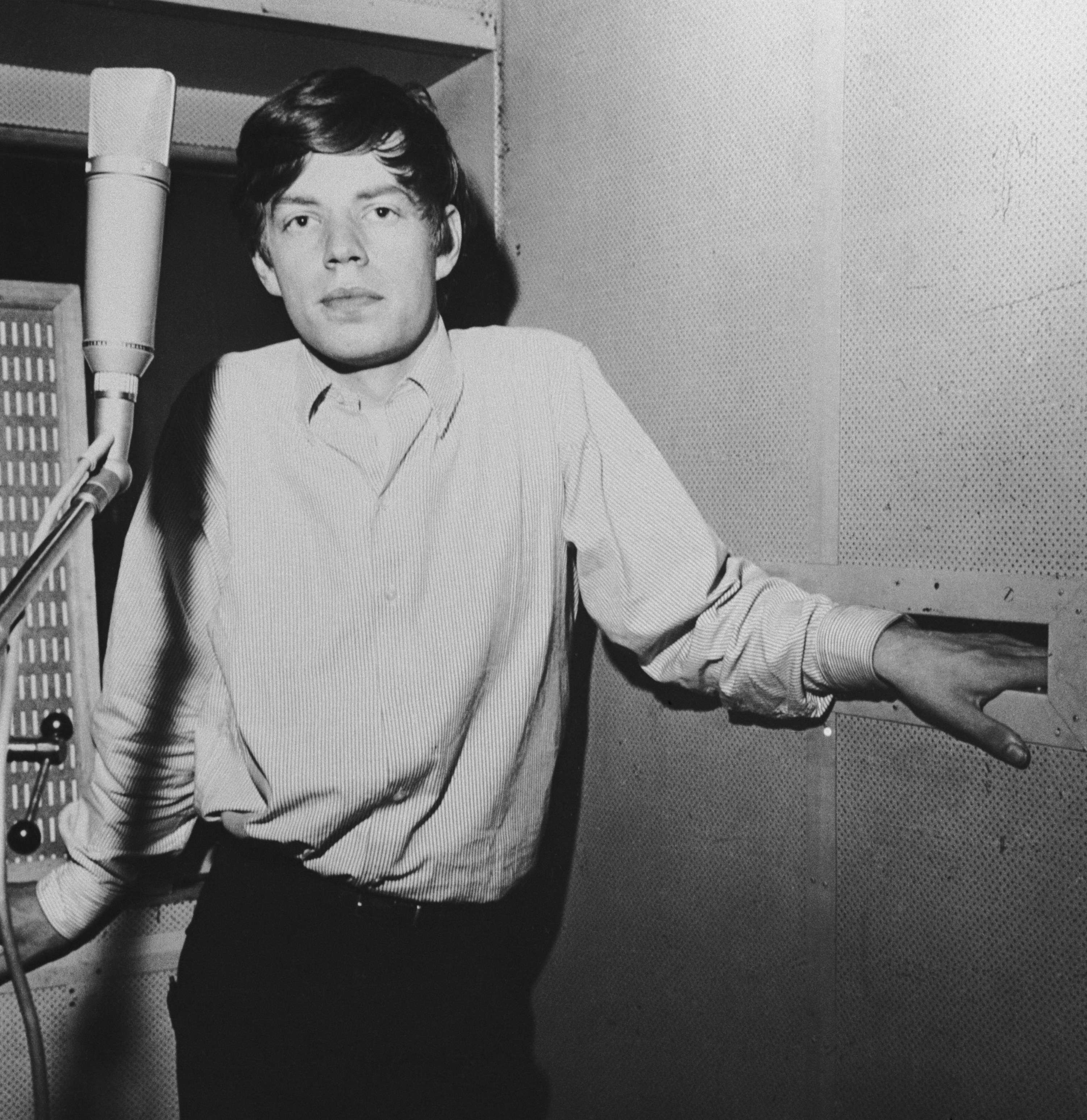 Mick in a recording booth