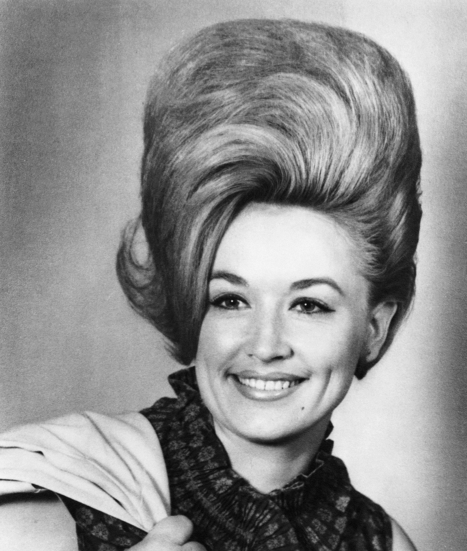 Dolly with big a beehive hairstyle