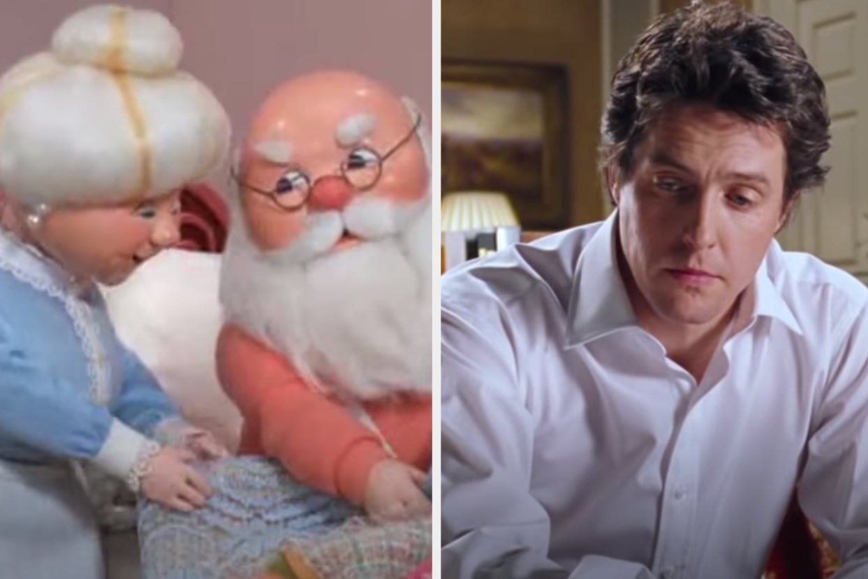 "Santa from ""The Year Without A Santa Claus"" and David from ""Love Actually"""