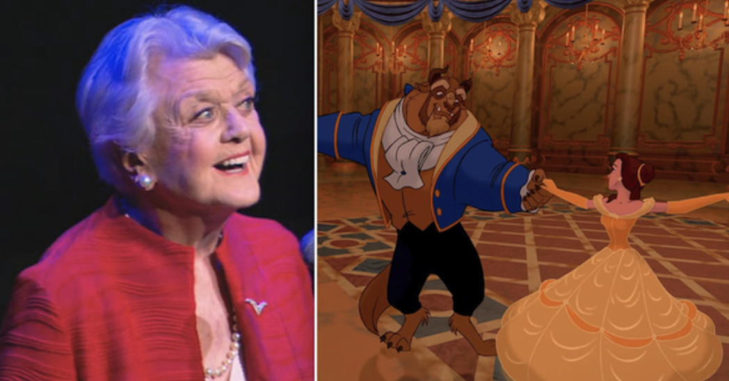"Angela Lansbury singing on stage for the ballroom scene in ""Beauty and the Beast"""
