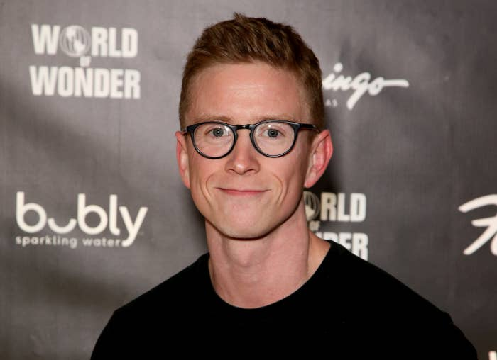 """Tyler Oakley attends the world premiere of """"RuPaul's Drag Race Live!"""" at Flamingo Las Vegas on January 30, 2020 in Las Vegas, Nevada"""