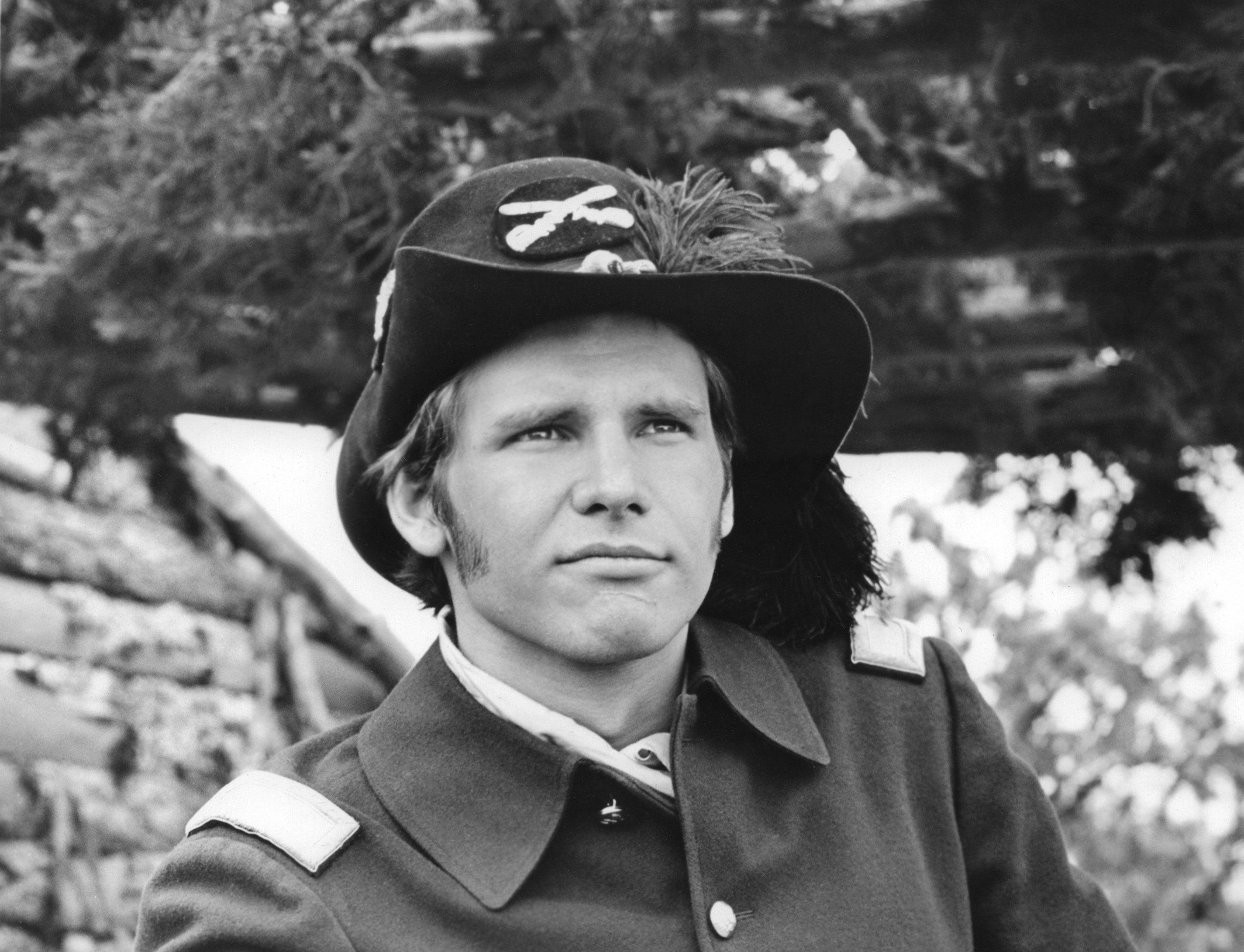 Harrison dressed in a Confederate costume