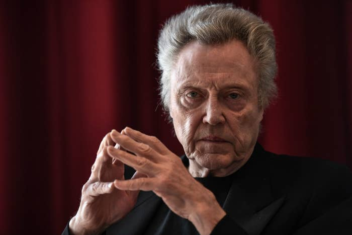 Christopher Walken poses during a photo session.