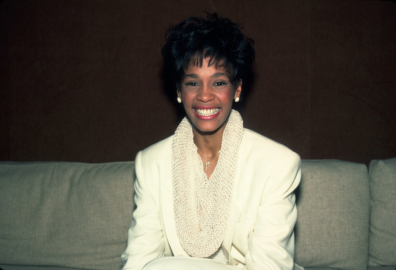 Whitney Houston at the Chicago Recording Company in Chicago, Illinois., February 20, 1985