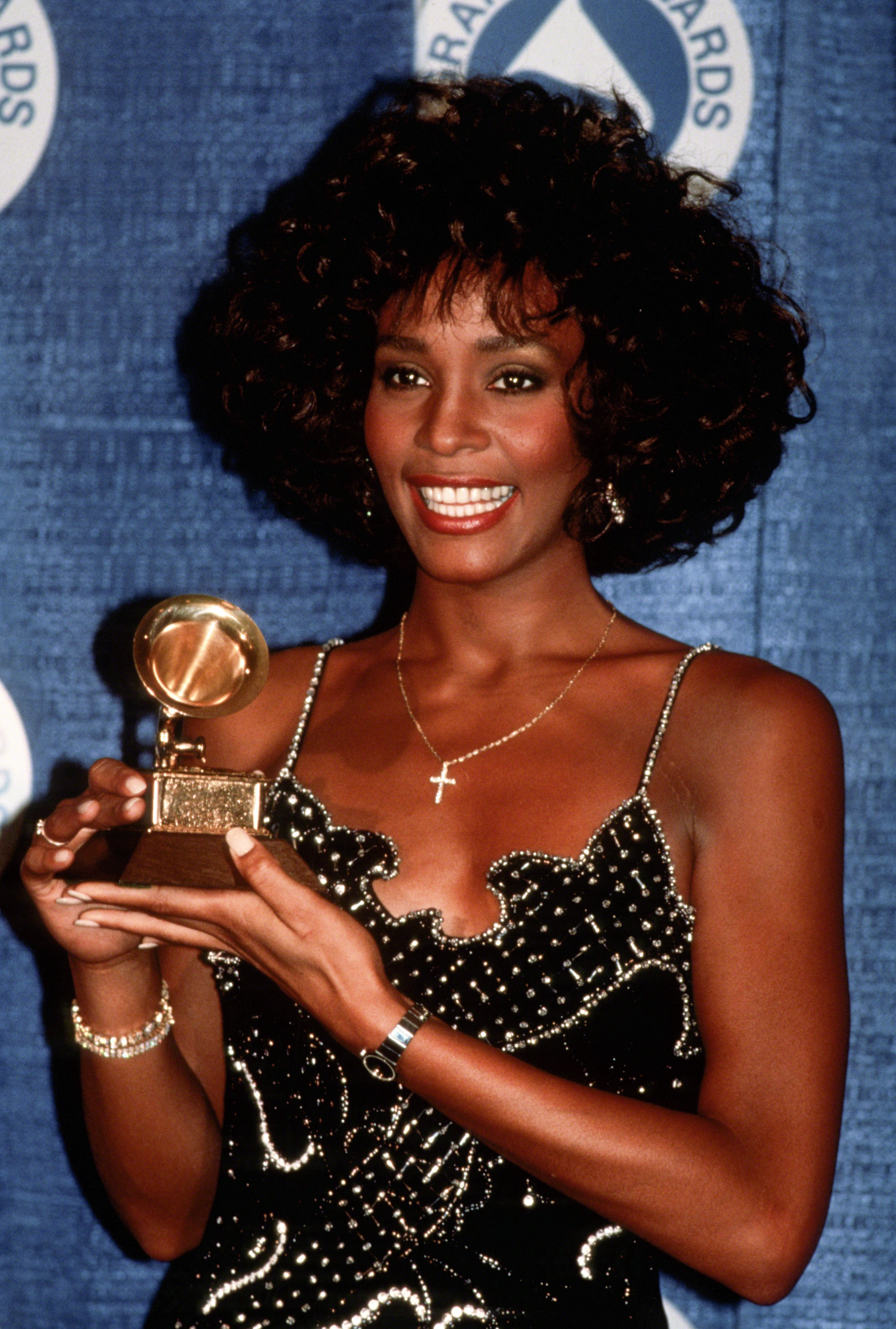 Whitney Houston attends the 30th Annual Grammy Awards circa 1988 in New York City