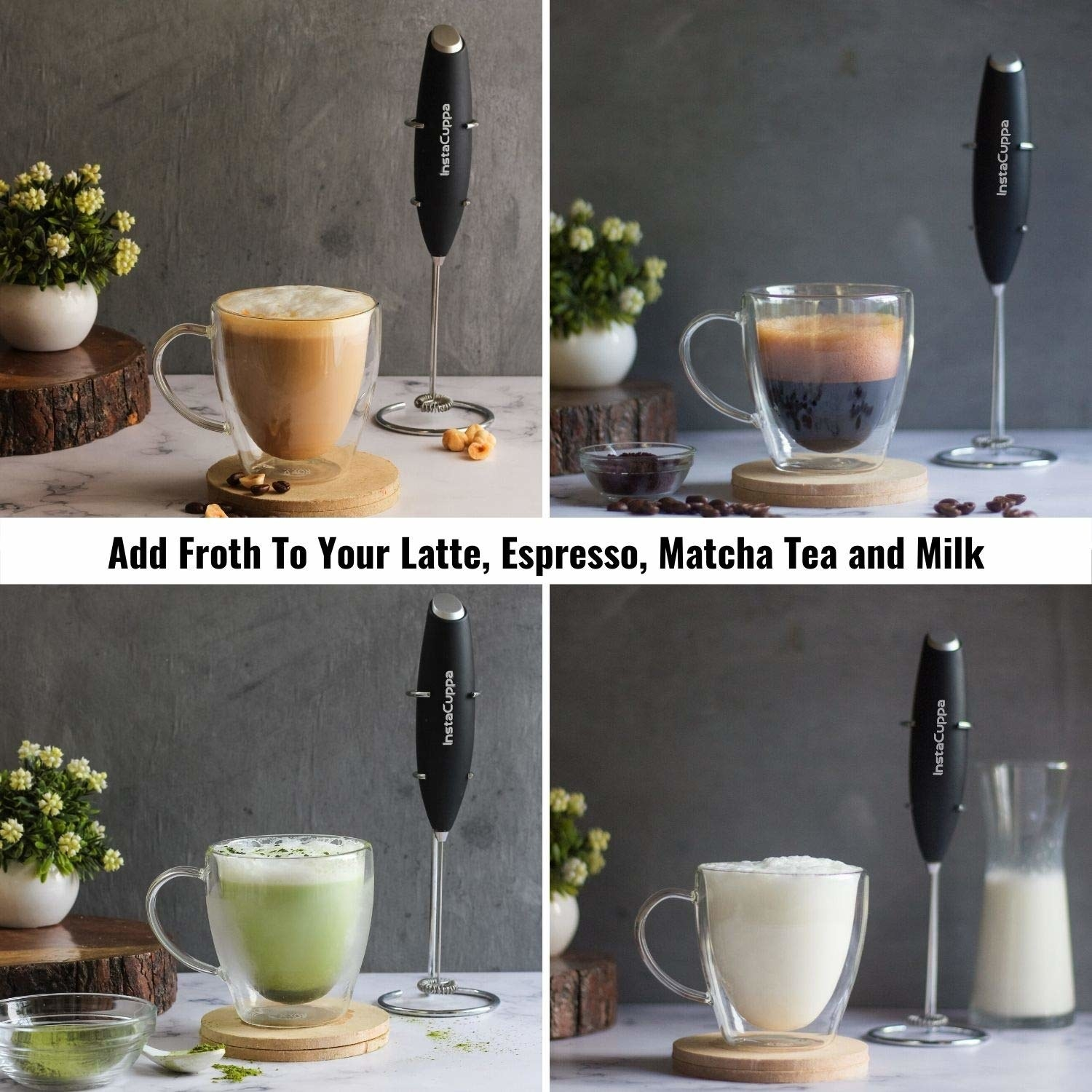 Various uses of the milk frother