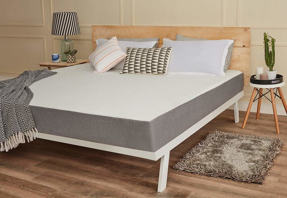 A memory foam mattress in a bedroom
