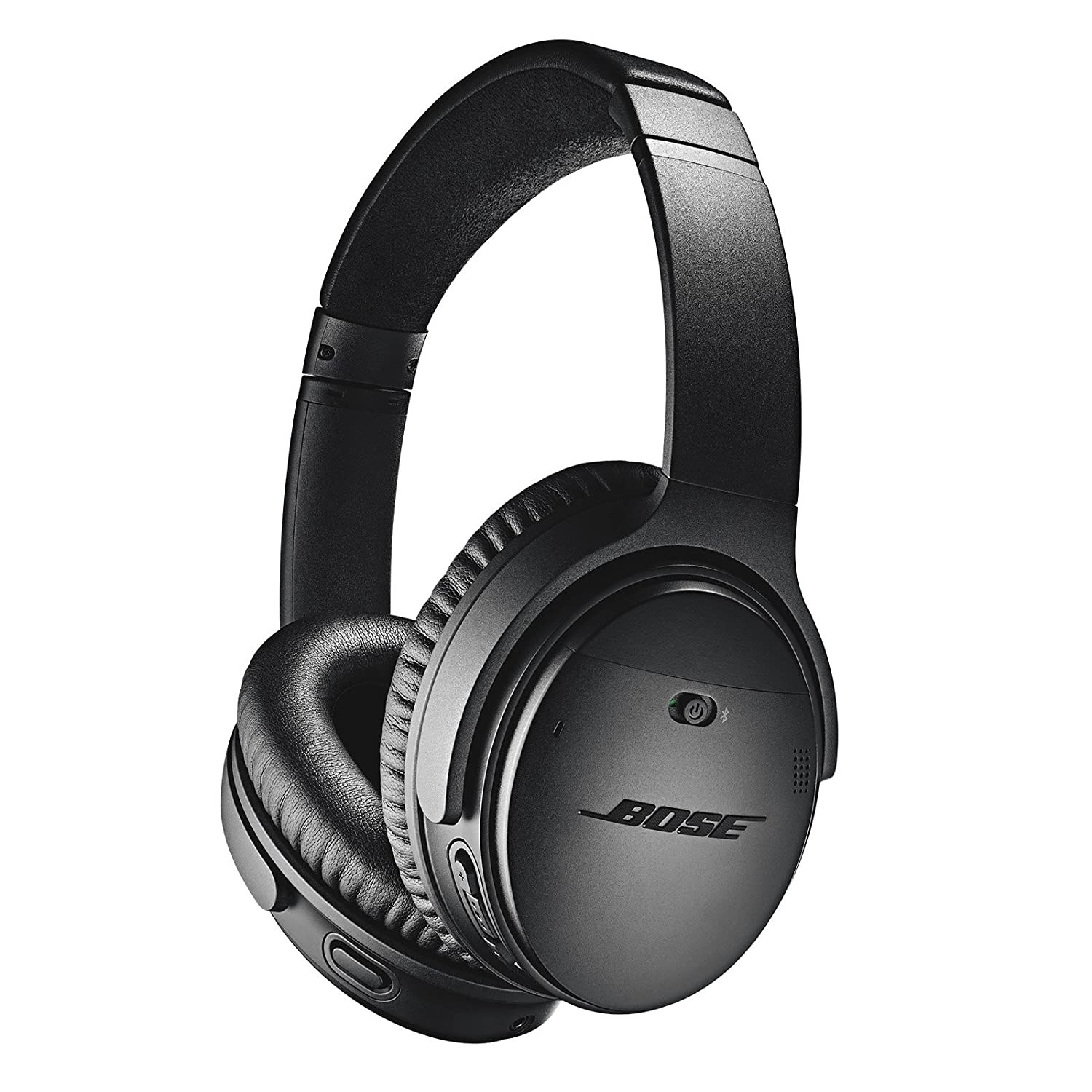 A pair of black Bose headphones
