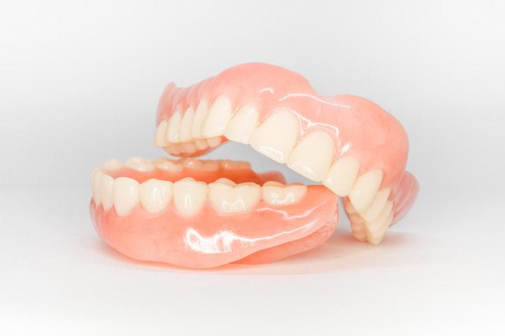 Stock photo of dentures.