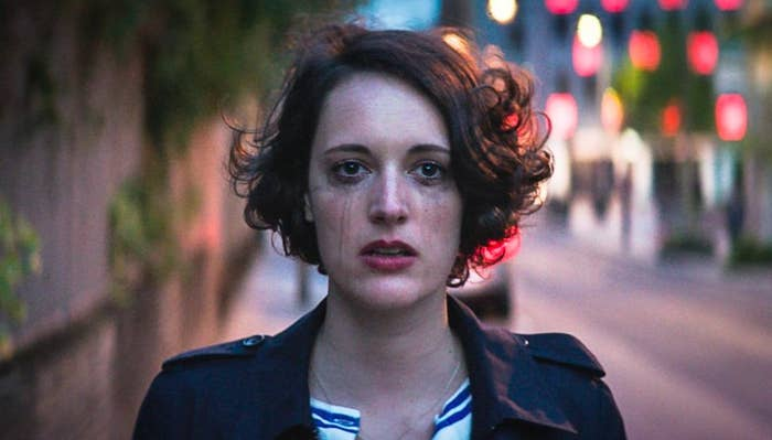 Fleabag's makeup runs from crying