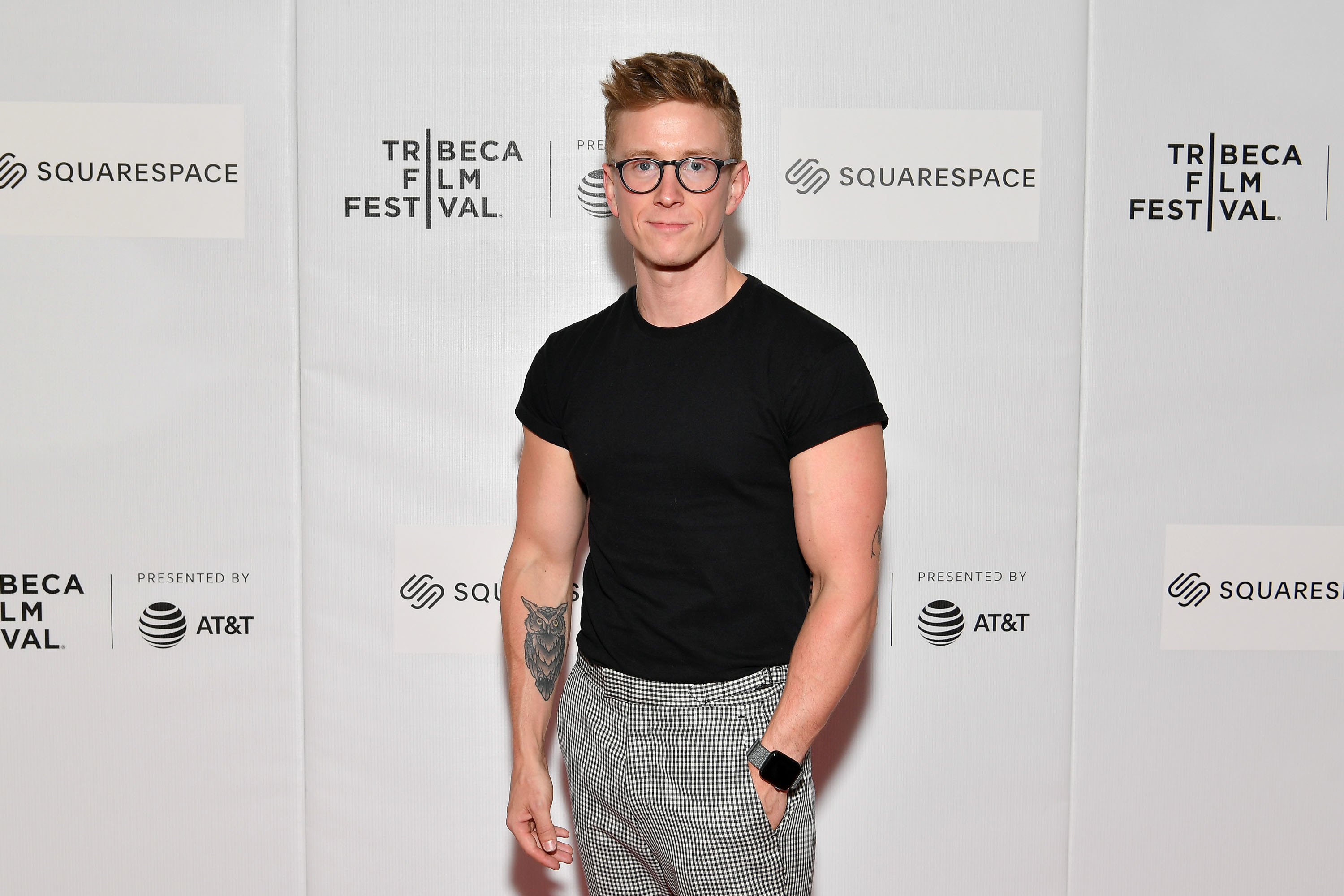 """Tyler Oakley attends the """"Gay Chorus Deep South"""" screening during the 2019 Tribeca Film Festival at Spring Studios on April 29, 2019 in New York City"""