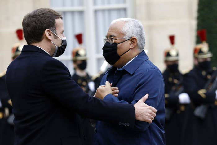 President Emmanuel Macron and Prime Minister of Portugal Antonio Costa