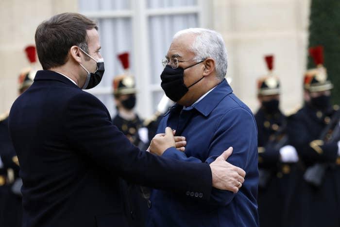President Emmanuel Macron and Prime Minister of Portugal Antonio Costa