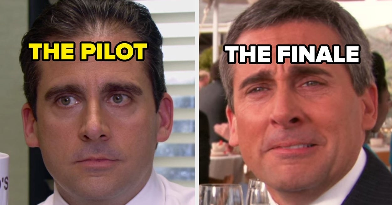"""Michael Scott in the pilot episode of """"The Office"""" vs. the series finale episode"""