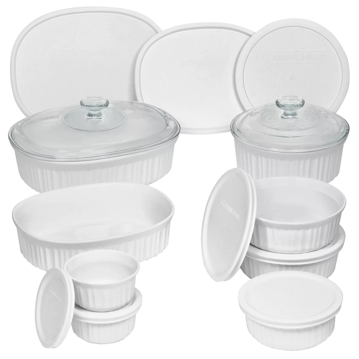 the 18 piece corningware set