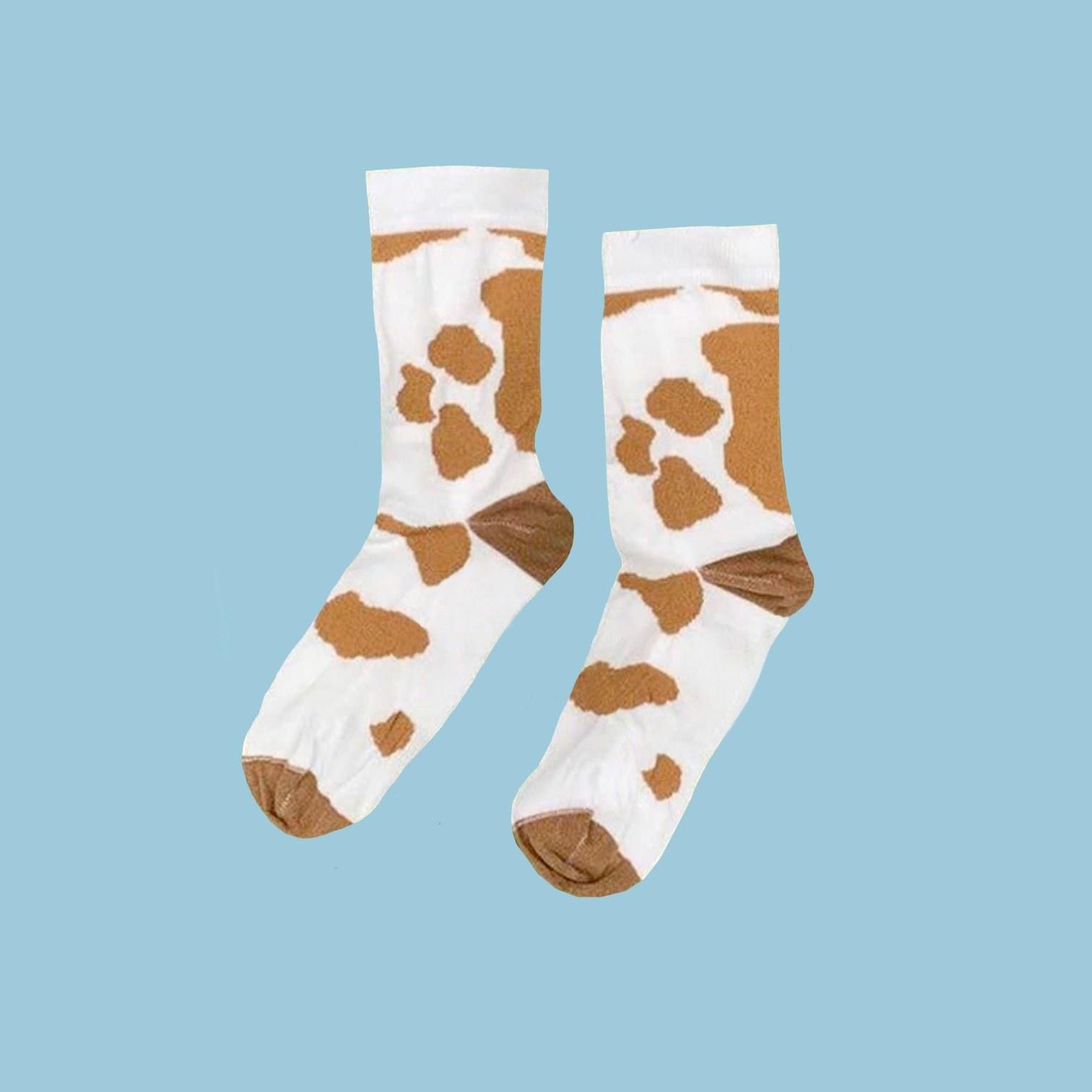 brown cow socks