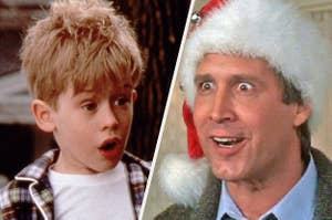 Kevin from Home Alone and Clark from National Lampoon's Christmas Vacation