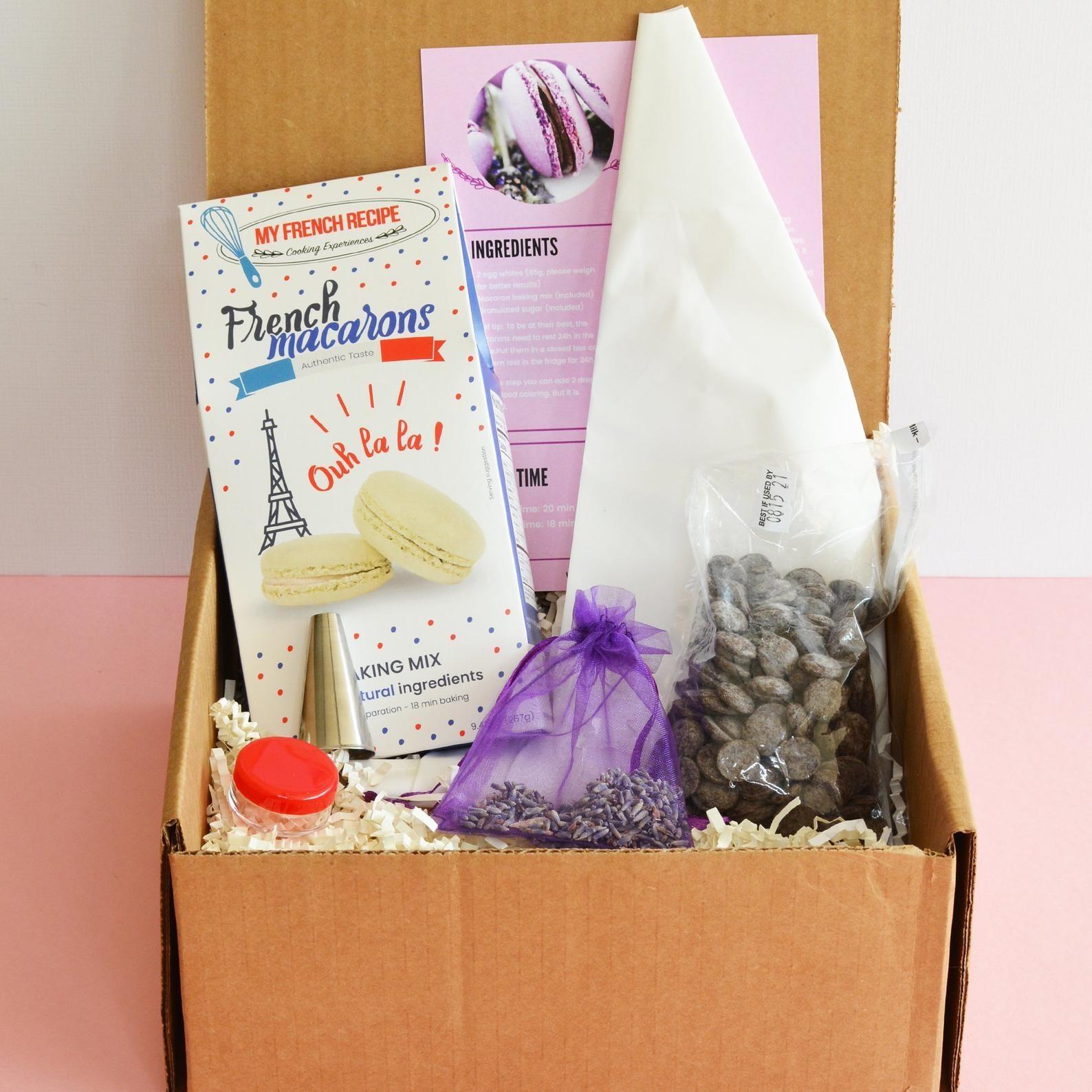 Macaron baking kit in its packaging