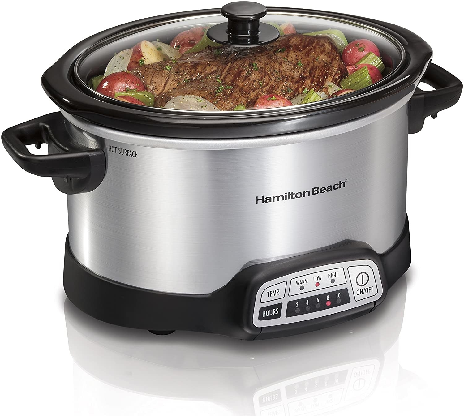 The Hamilton Beach slow cooker