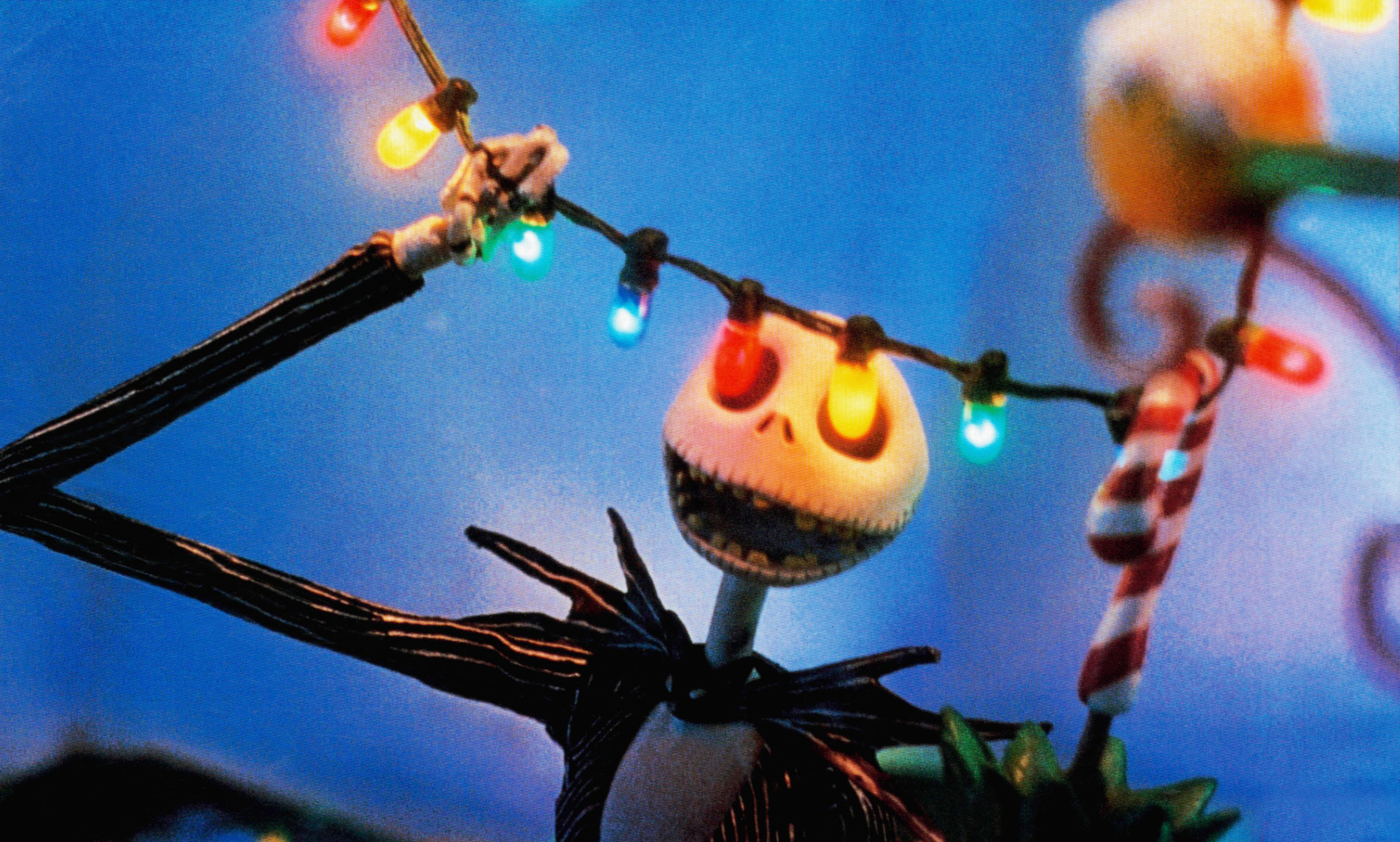 """Jack Skellington holds Christmas lights in """"The Nightmare Before Christmas"""""""