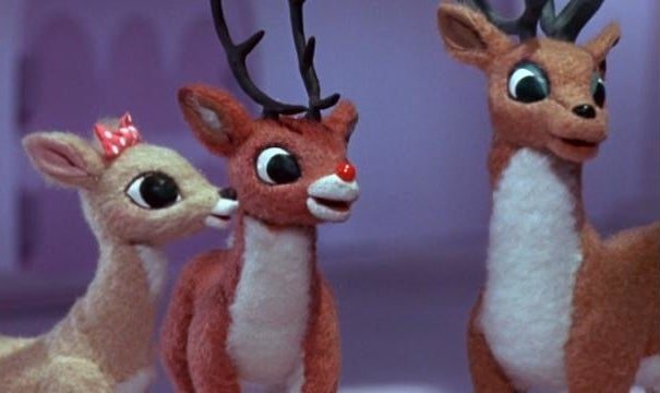 """Rudolph and other reindeer friends in the 1964 """"Rudolph the Red-Nosed Reindeer"""""""
