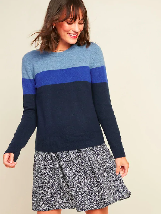 the gradient striped blue sweater