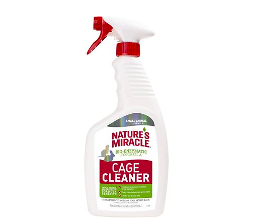 the cage cleaner in a spray bottle