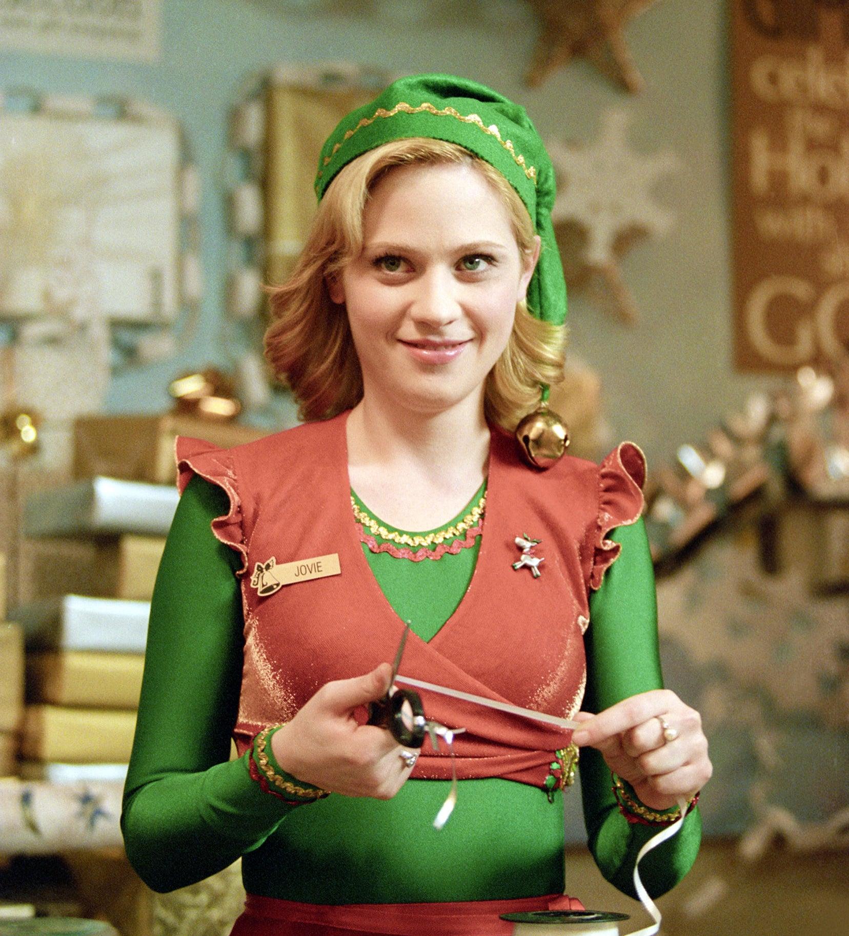 """Zooey Deschanel as department store employee Jovie in """"Elf"""""""