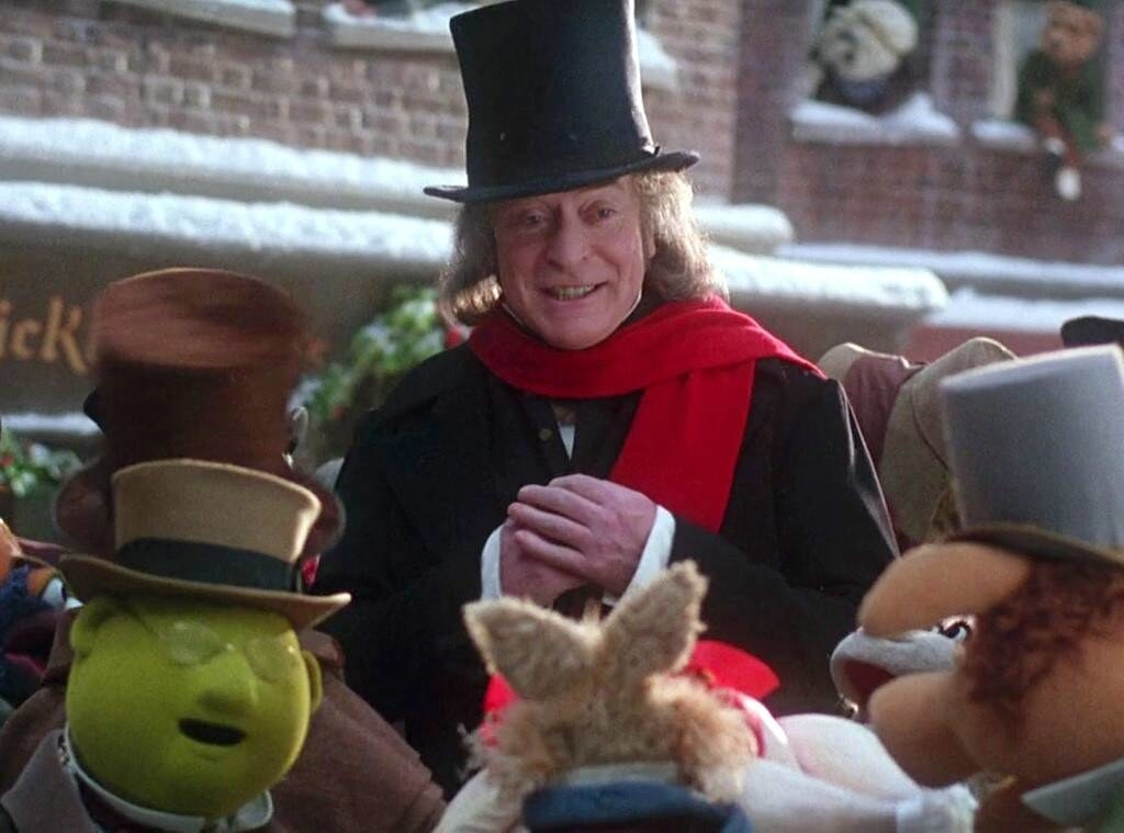"""Michael Caine as Ebenezer Scrooge with muppets in """"The Muppet Christmas Carol"""""""