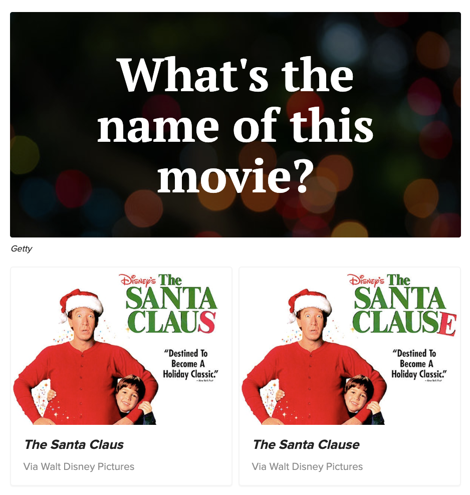 Question: What's the name of this movie? Answer: The Santa Claus or The Santa Clause