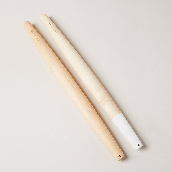 two farmhouse pottery french rolling pins