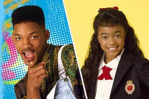 Will Smith next to Ashely from the show