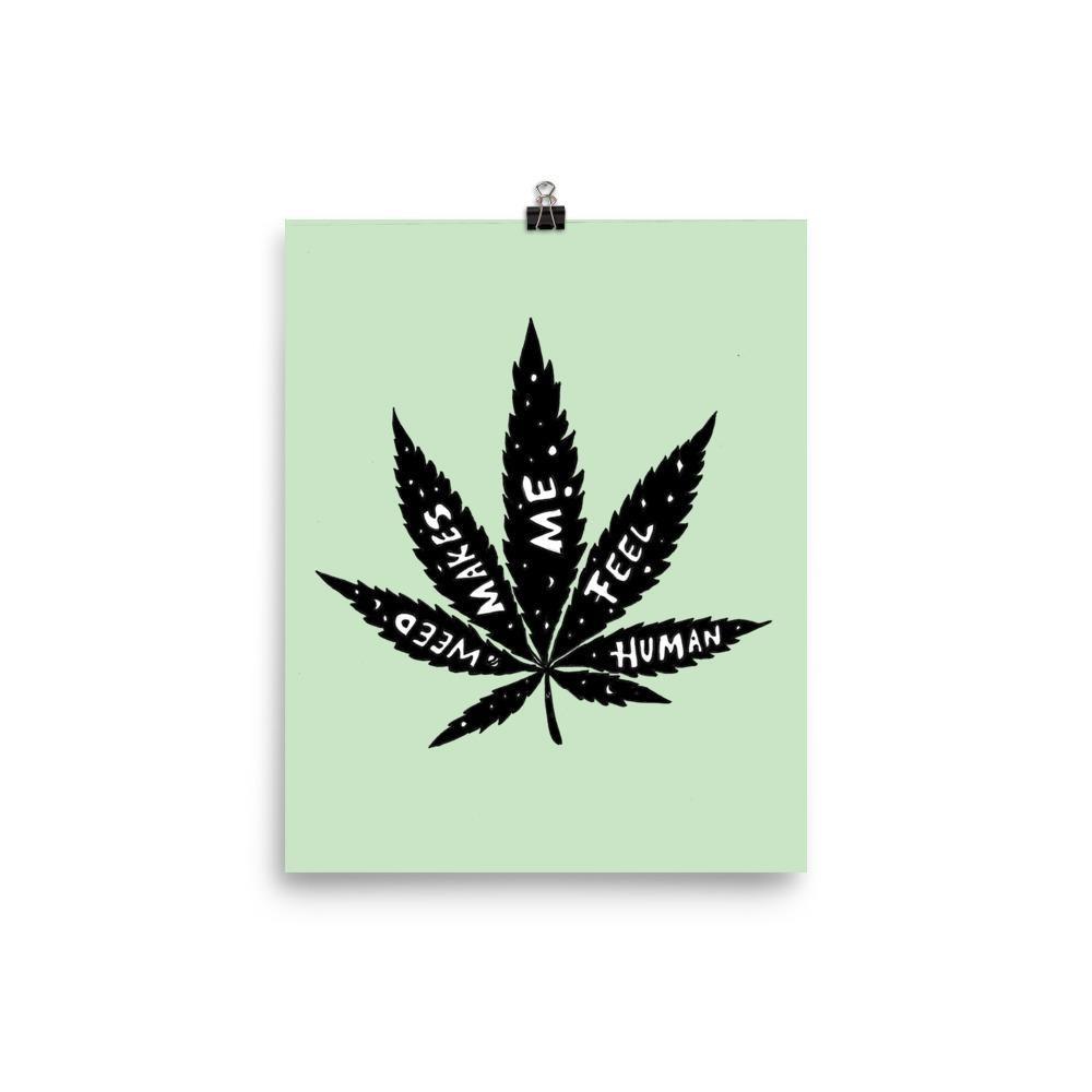 An image of a print with a marijuana leaf on it