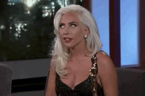 Lady Gaga rolling her eyes HARD