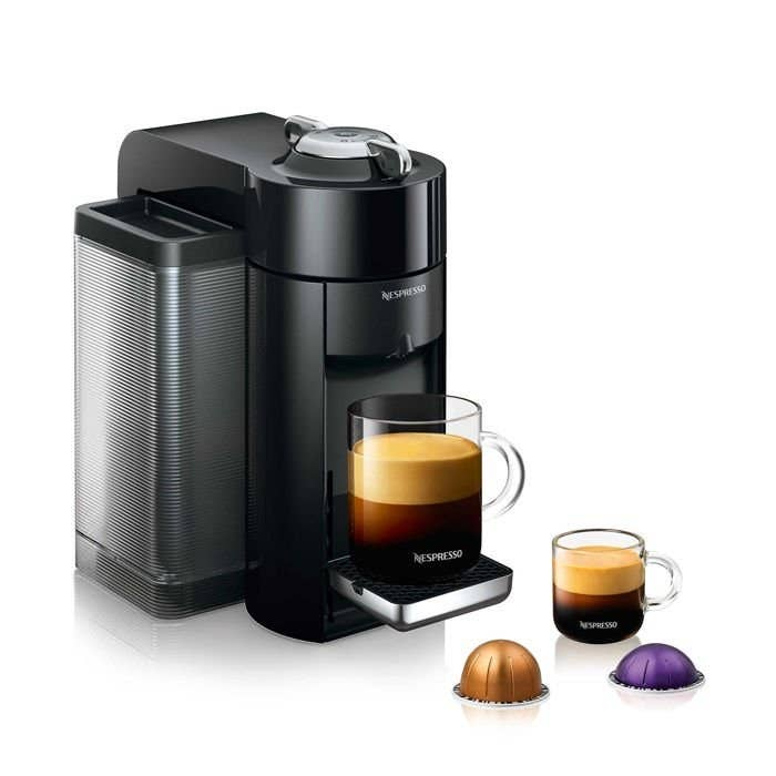 the machine with a freshly brewed cup of coffee on it
