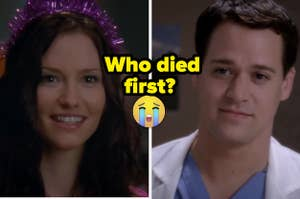 """Chyler Leigh as Lexie Grey and T.R. Knight as George O'Malley in the show """"Grey's Anatomy."""""""