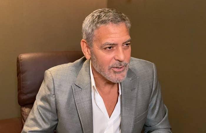 George Clooney speaks virtually