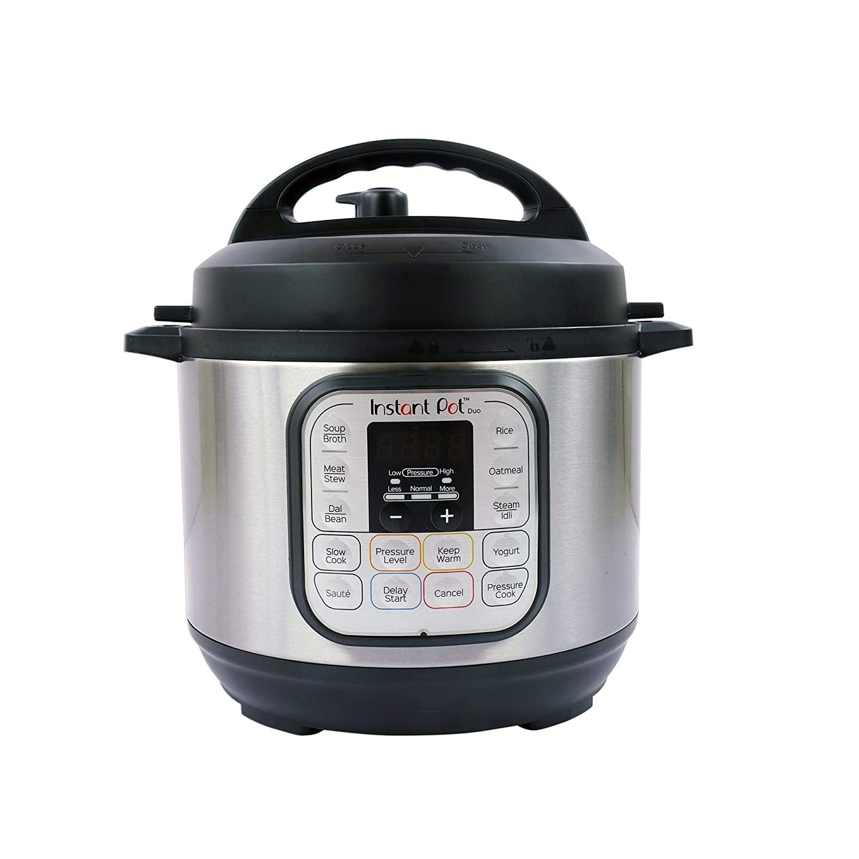 A black and grey instant pot