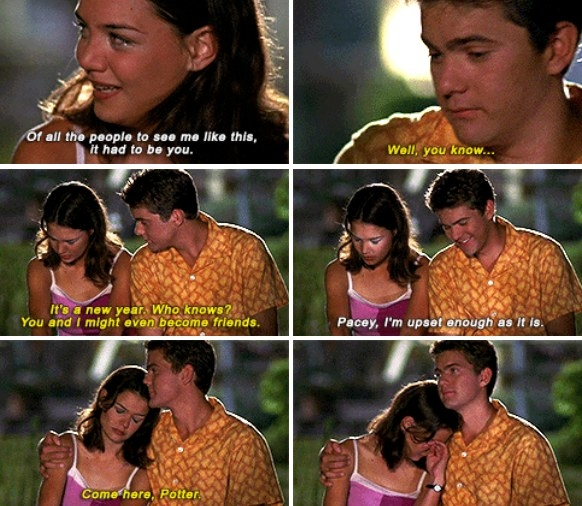 Pacey comforts a crying Joey