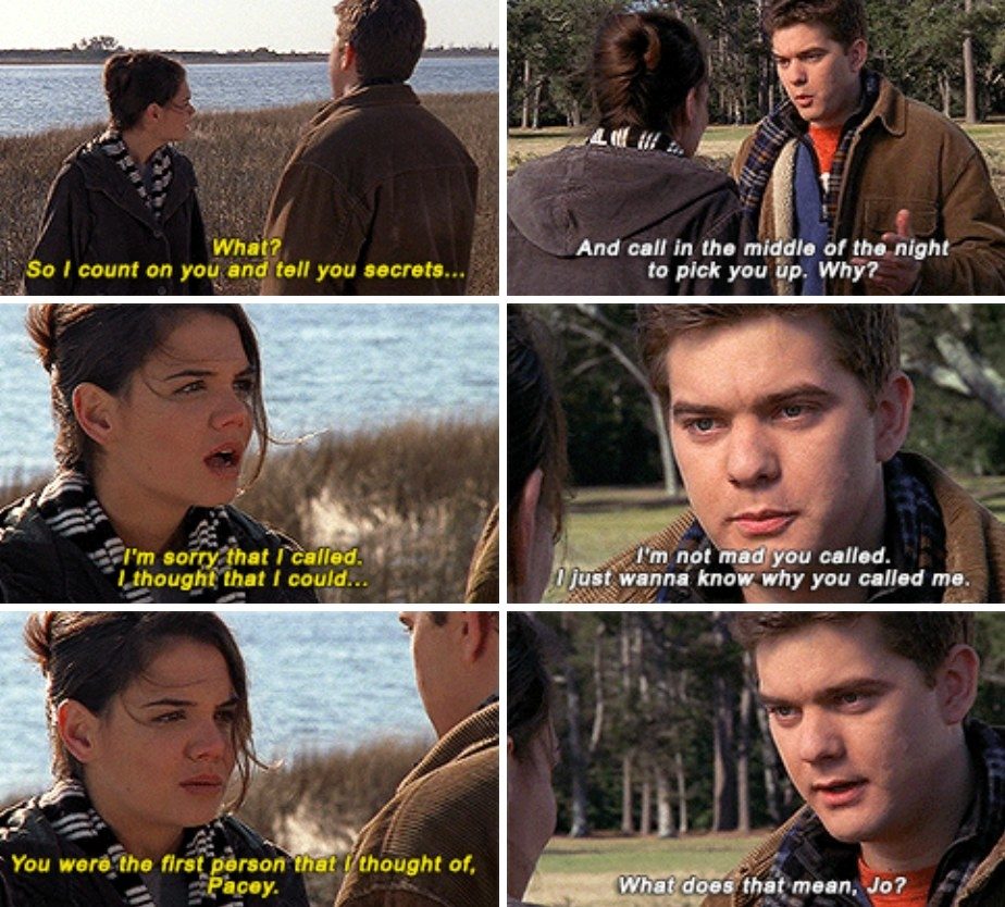 Pacey and Joey talk about the meaning of their relationship